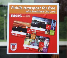Free use of public transport with Bratislava Card (1.4.2019 - 31.3.2020)