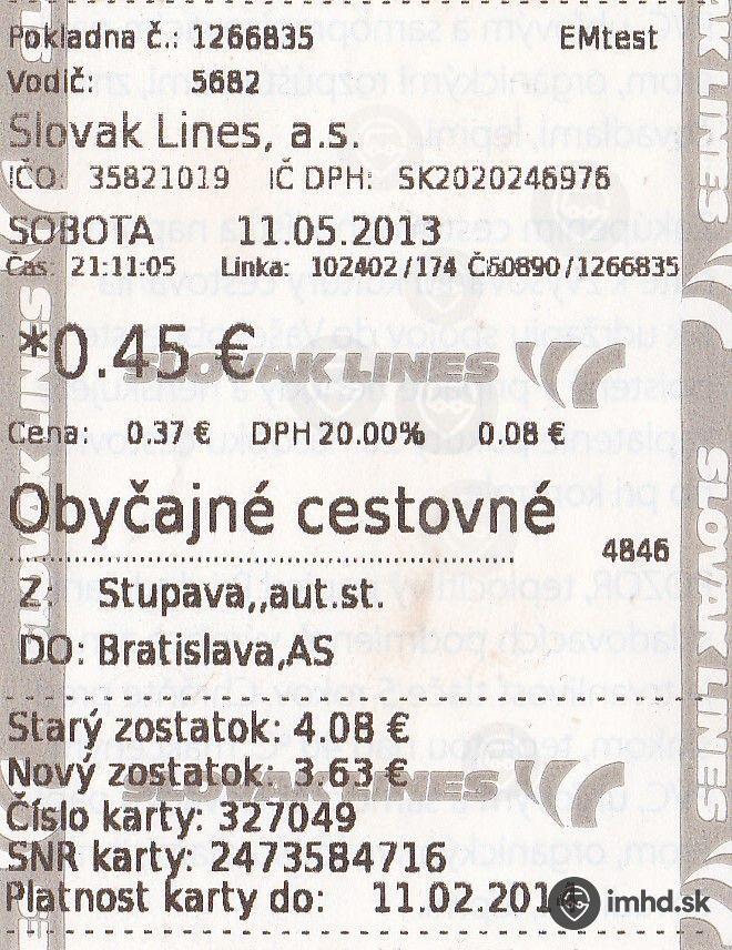 Route 102402 Imhd Sk Bratislava