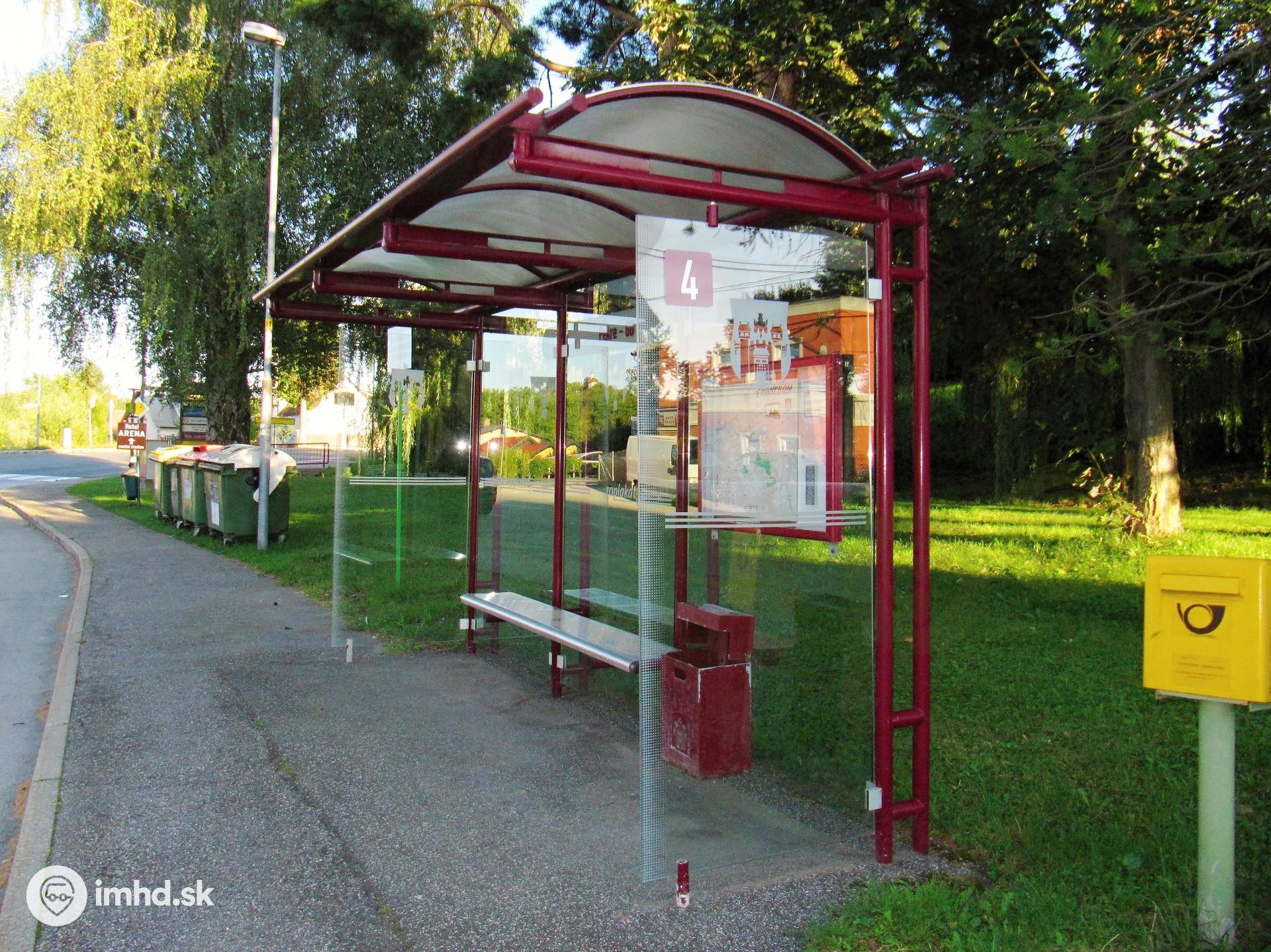 Route 4 Lackova Cesta Zastavka Pekre Gasilski Dom Imhd Sk Hlohovec