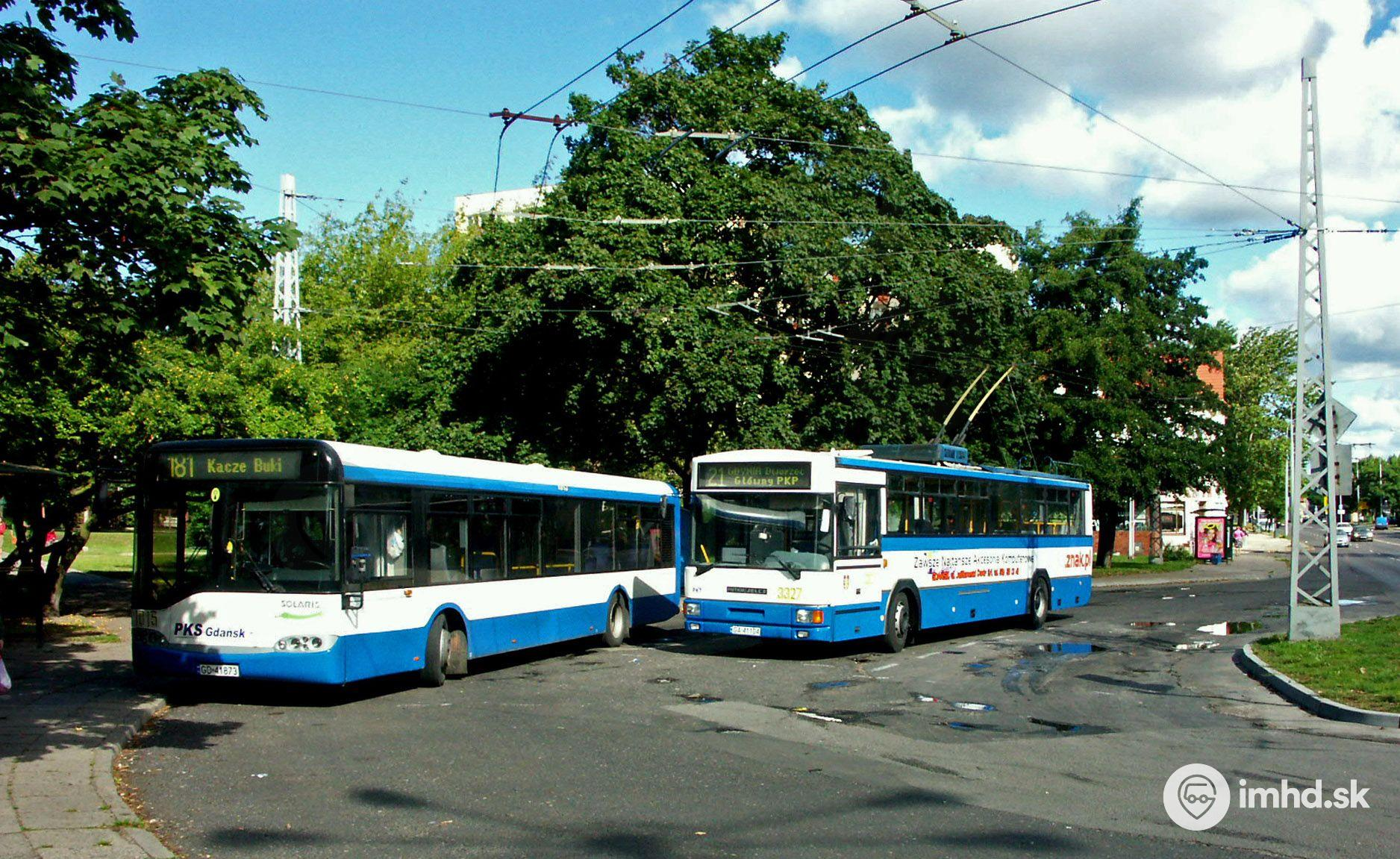 1015, 3327, GA 41104, GD 41873, route 181, 21, Sopot • imhd