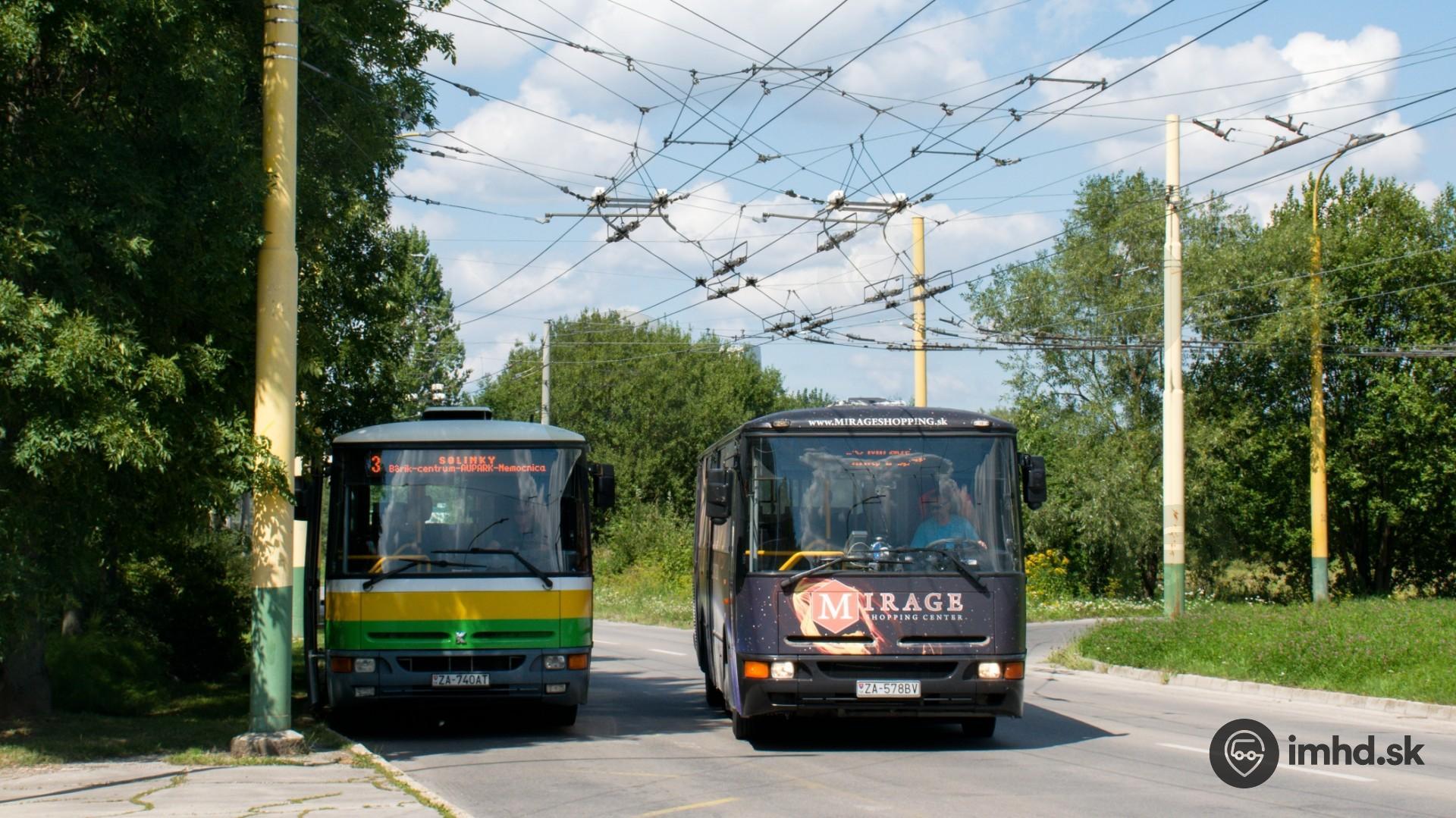 40, #ZA-578BV, route 3, MirageBus, Obvodová ul  • imhd sk Žilina